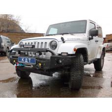 Алюминиевый передний силовой бампер KDT для Jeep Wrangler JK