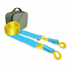 Стропа буксировочная T-PLUS серия Стандарт нагрузка 6т длина 5м крюк/крюк + сумка (олива)