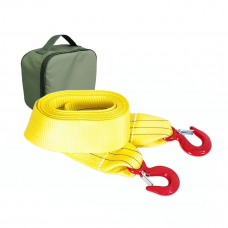 Стропа буксировочная T-PLUS нагрузка 8/13т, 6м (экстрим класс) крюк/крюк + сумка