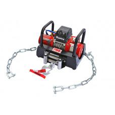Лебёдка переносная Runva 9500 lbs 4350 кг c площадкой на цепях и проводами (в сборе) короткий барабан