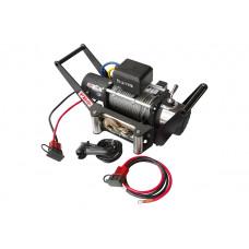 Лебёдка переносная Runva 9500 lbs 4350 кг c площадкой в квадрат для фаркопа и проводами (в сборе)
