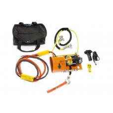 Лебедка электрическая переносная для Кроссоверов (SUV) и снегоходов СТОКРАТ SN 6.0 S 12V с синтетическим тросом и всем необходимым такелажем (в сумке)